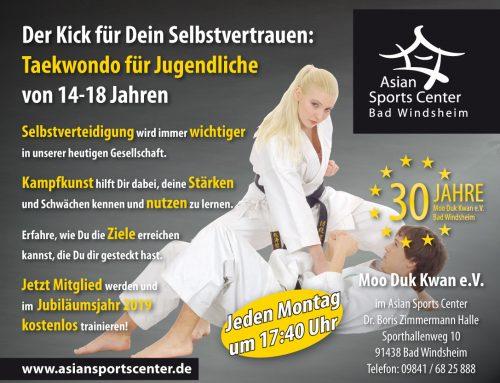 Taekwondo für Jugendliche von 14-18 Jahren – Neue Kurse
