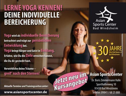 Neue YOGA Kurse im Sportcenter